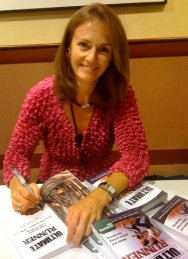 Becky Aaronson signing books