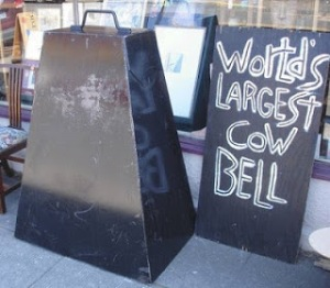 Photo of giant cowbell