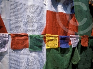Photo of prayer flags in Kathmandu, Nepal