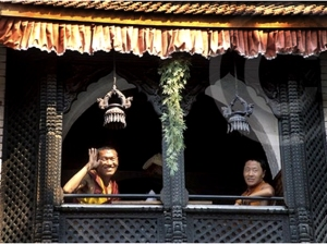 Photo of monks in the Thamel area of Kathmandu