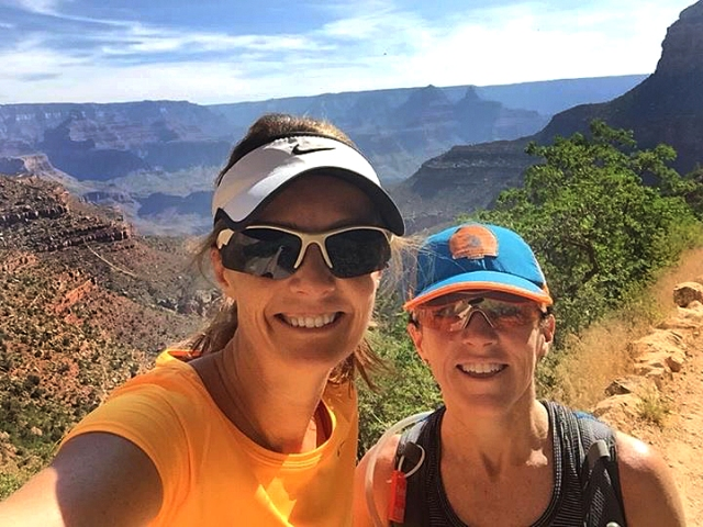 Photo of Becky and Ida on Bright Angel Trail in the Grand Canyon