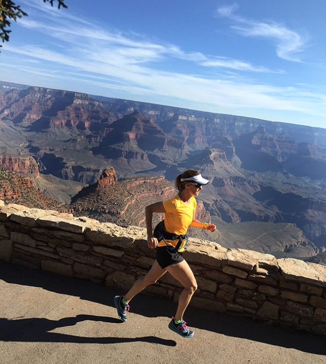 Photo of running near El Tovar Lodge along the South Rim of the Grand Canyon