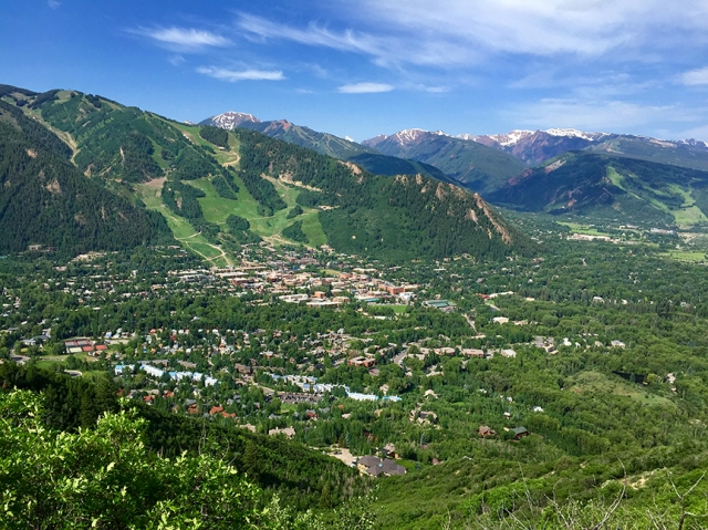Overview of Aspen from Smuggler Mt. Road