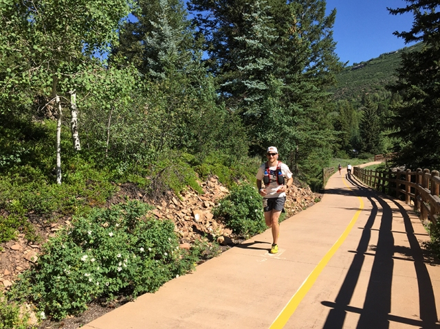 Photo of a runner during the Aspen Backcountry Marathon