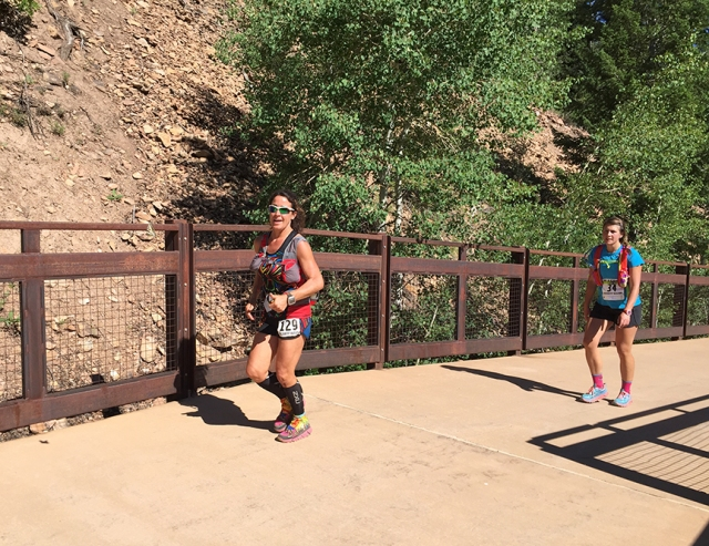 Photo of Laura Buitron running the Aspen Backcountry Marathon