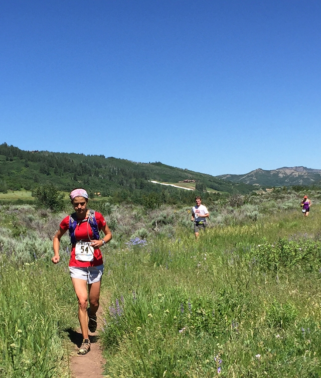 Photos of runners during the Aspen Backcountry Marathon